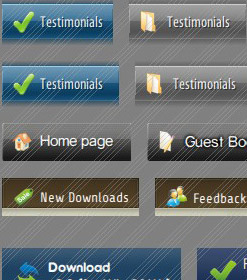 HTML Submit Buttons Menus Aqua Button Template