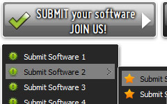 Clipart Interface Buttons Three State Submit Button