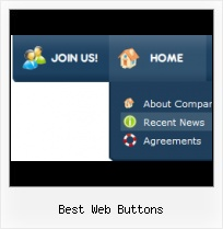 Web 2 0 Rollover Buttons Blue Web Site Buttons