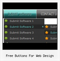 Vista Web Button Horizontal Popup Menu Tab Button Backgrounds