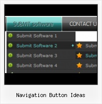 Menu Button With Icons Webpage Graphics Arrow