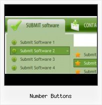 Horizontal 3d Button Menu Bar HTML Image Navigation Button