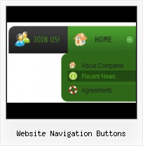 Javascript Graphical Menu Buttons HTML Save Button Examples