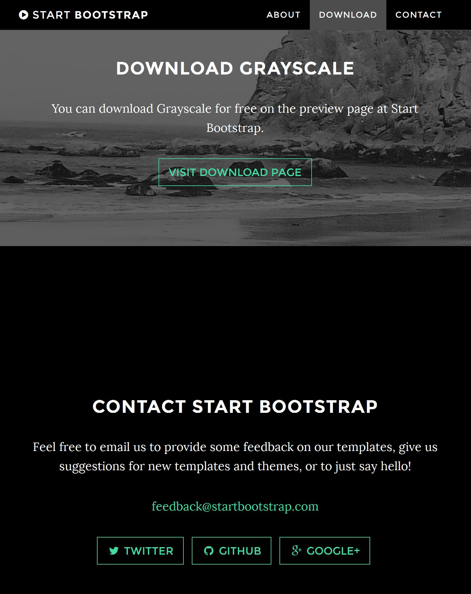 Bootstrap Blank Template