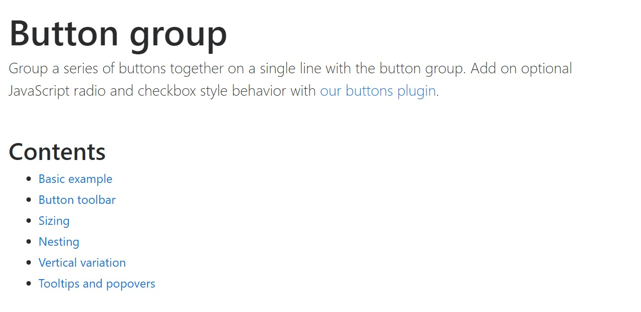 Bootstrap button group  main  records