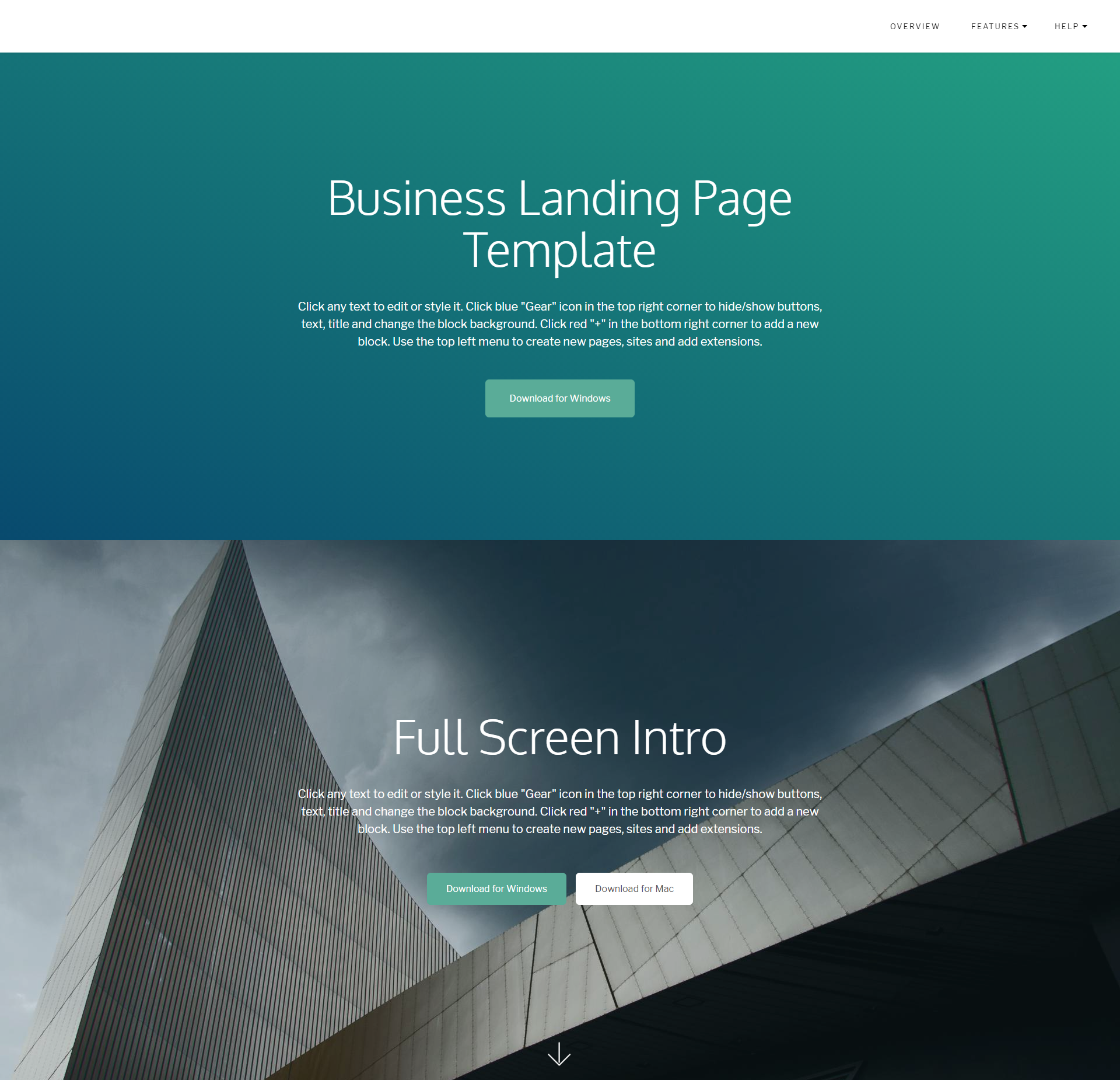 Free Download Bootstrap Business Landing Page Templates