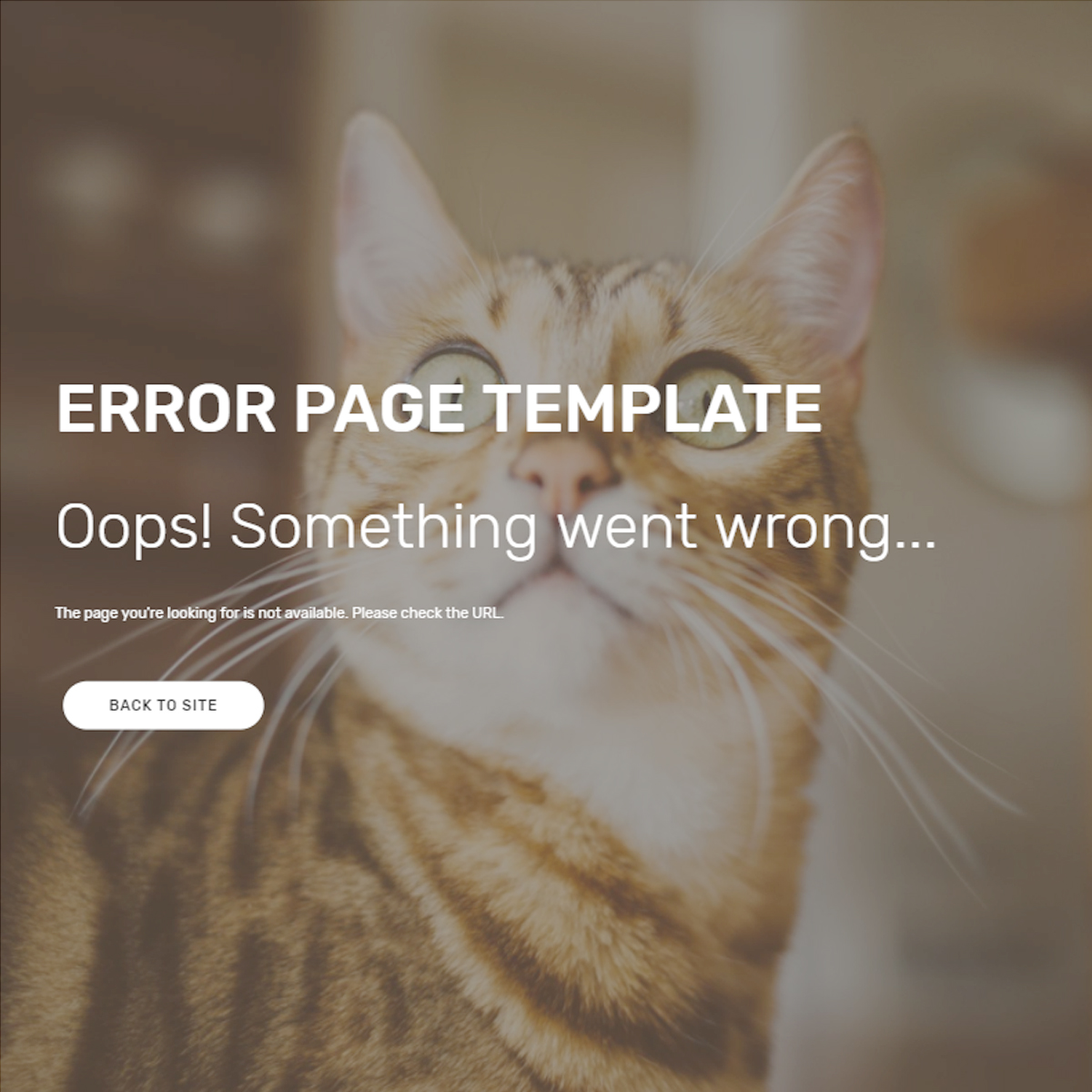 Free Bootstrap Error Page Themes