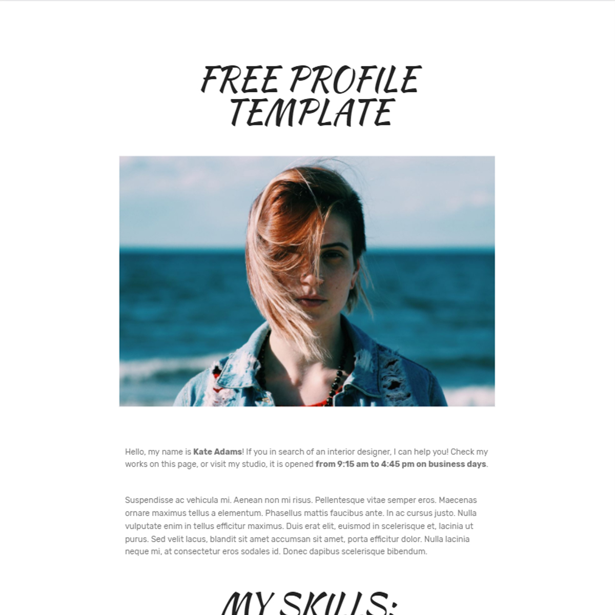 HTML Bootstrap Profile Templates