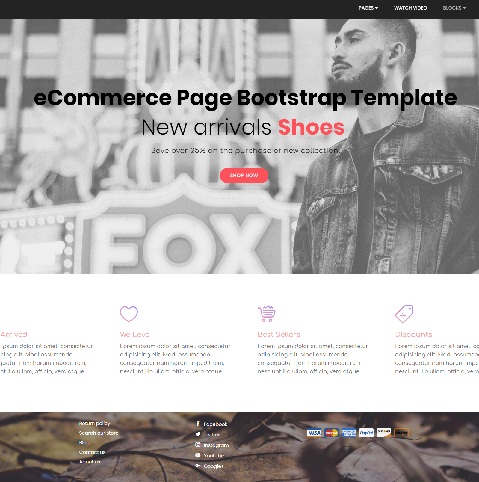 CSS3 Bootstrap eCommerce Themes