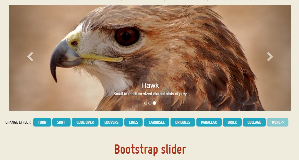 Bootstrap Slider Bar