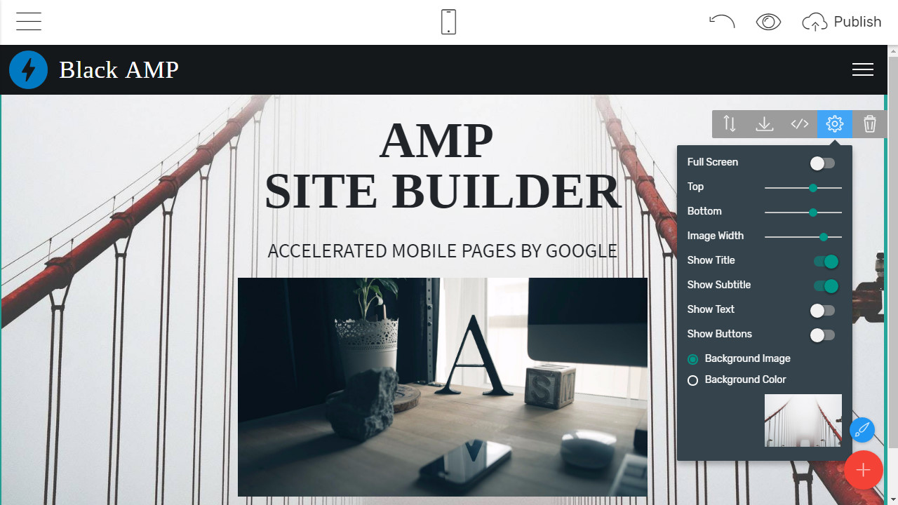 AMP Site Builder